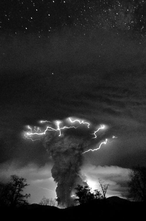 Lightning funnel cloud....