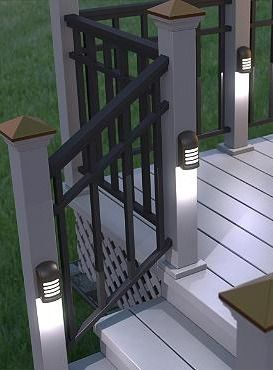 The LED Deck Light illuminates your deck to help guests navigate your nighttime parties safely and doubles as a trespasser deterrent.: Deck Lights, Deck Lighting Ideas, Deck Ideas, Backyard Flood Lights, Deck Lighting Solar, Outdoor Lighting, Outdoor Deck Lighting, Decking Lighting
