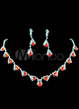 Prom Jewelry | Fabulous-White-And-Red-Silver-Rhinestone-Prom-Jewelry-Set-36414-1.jpg