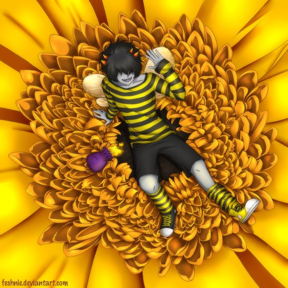 Commission - Beetuna by feshnie.deviantart.com on @deviantART <<MITUNA <3 <<<small headcanon that Mituna lived in the land of petals and pollen