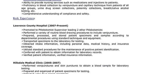 Phlebotomy Resume Sample and Tips share Pinterest Phlebotomy - phlebotomy resume