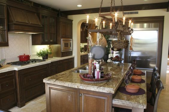 kitchen islands country kitchens and woven baskets on