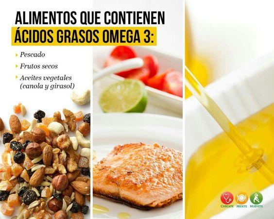 Alimentos que contienen ácidos grasos omega 3
