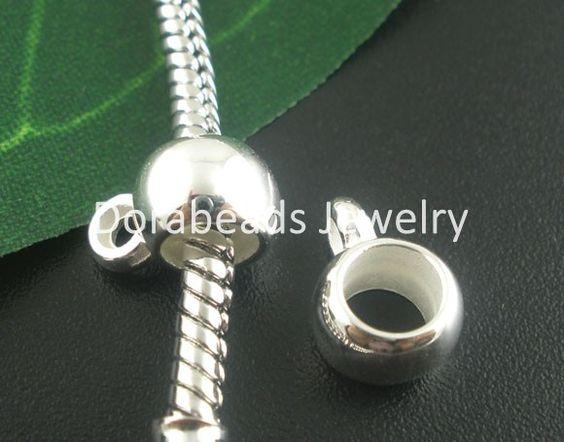 Livraison gratuite! Pièces d'argent plaqué 200 acrylique lisse tasse. cautions perles charme européen 11x8mm(