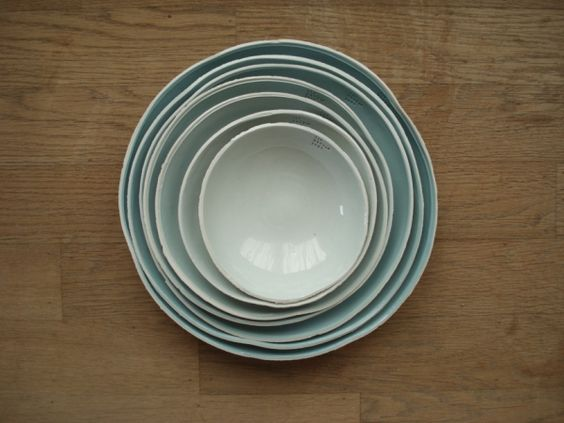 coloured bowls : kirstie van noort