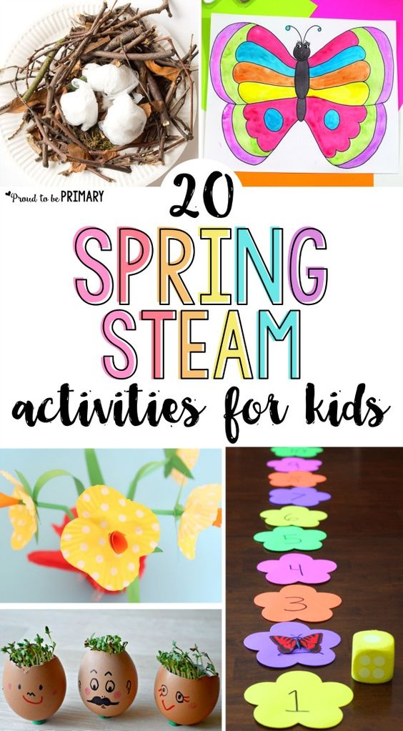 Welcome the new season with these 20 Spring STEAM activities for kids! Teach about flowers, butterflies, birds, and plants with arts & crafts, hands-on math and science experiments, and other learning ideas for spring.