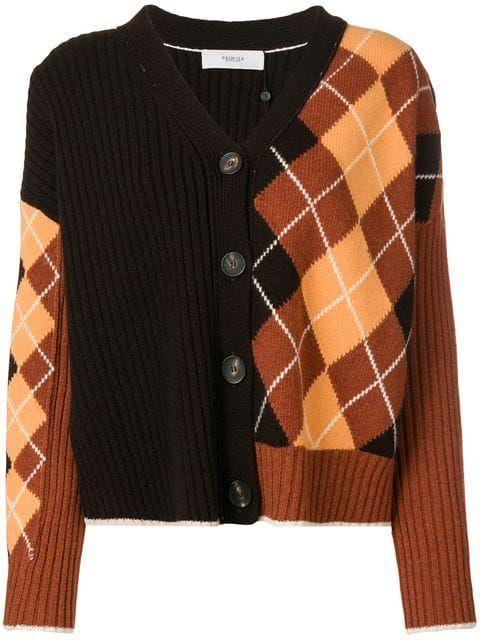 Pringle Of Scotland argyle panel cardigan | Женские