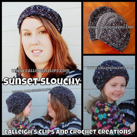 Looking for your next project? You're going to love Sunset Slouchy Hat -3 Sizes by designer calleighsclips. - via @Craftsy