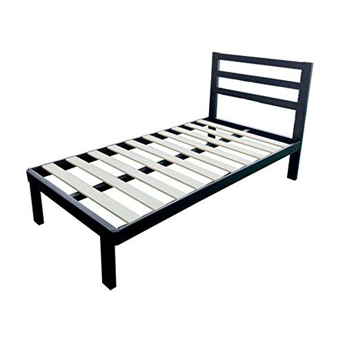 Black Metal Platform Bed Frame