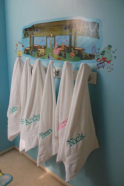 Towel Rack For Kids Bathroom