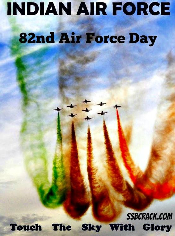 Guardians of the Sky! India Celebrating its 82nd Air Force Day by www.ssbcrack.com