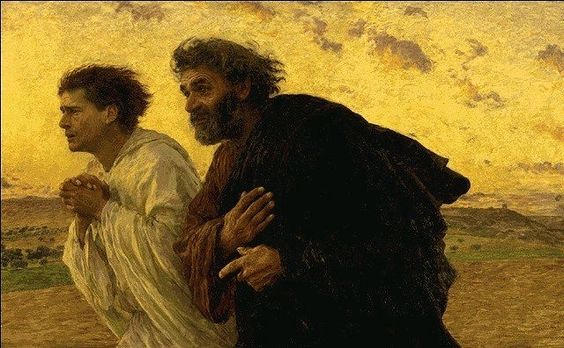 Peter and John running to the tomb - Eugene Burnand