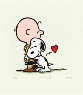 charlie brown and snoopy kissing