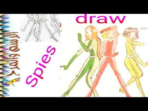 رسم وتلوين الجاسوسات خطوة بخطوة Draw Spies Step By Step Youtube Aurora Sleeping Beauty Disney Disney Characters