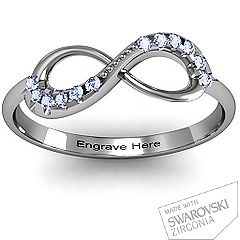 Infinity Accent Ring.