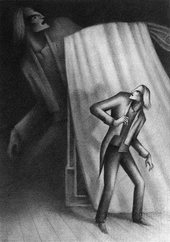 Illustration for Alexandr Chayanov's short stories by Vladimir Zimakov http://www.vladimirzimakov.com