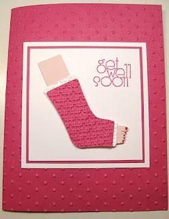 get well soon - leg cast - cute!! - bjl