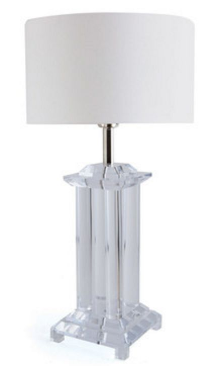Pretty lucite base on this lamp