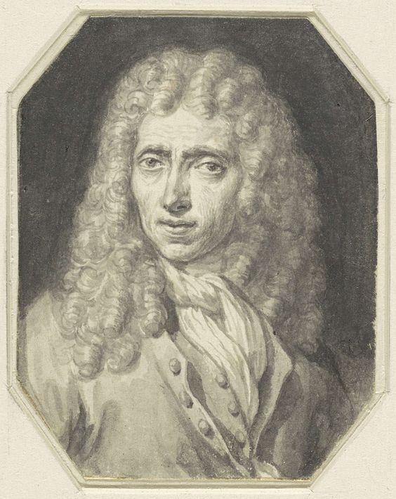 Arnold Houbraken | Portret van de schilder Johannes Voorhout, Arnold Houbraken, Christiaan Julius Lodewijk Portman, 1670 - 1719 |