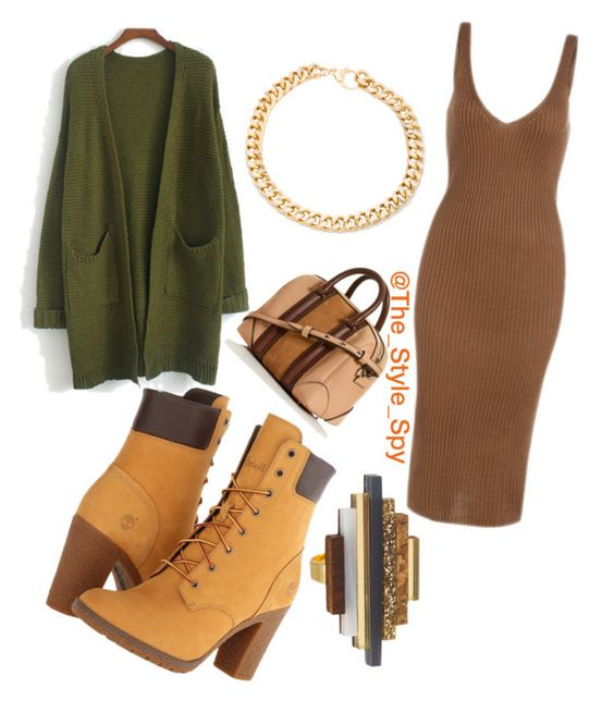 """Kick back look"" by style-spy on Polyvore featuring Timberland and Alessandra Rich"