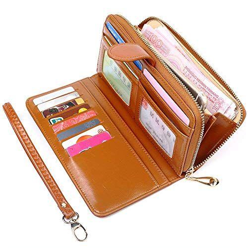 Damen Portemonnaie Geldbörse Geldbeutel Geld Tasche Lang Große Kapazität PU