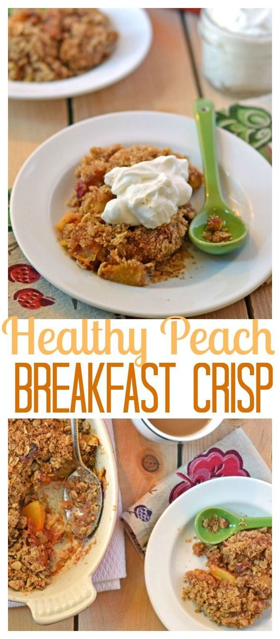 Clean Eating Peach Crisp. Good enough for dessert, healthy enough for breakfast! // Well-Plated