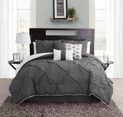 Pom Pom 7 Piece Comforter Set With Images King Size Comforter