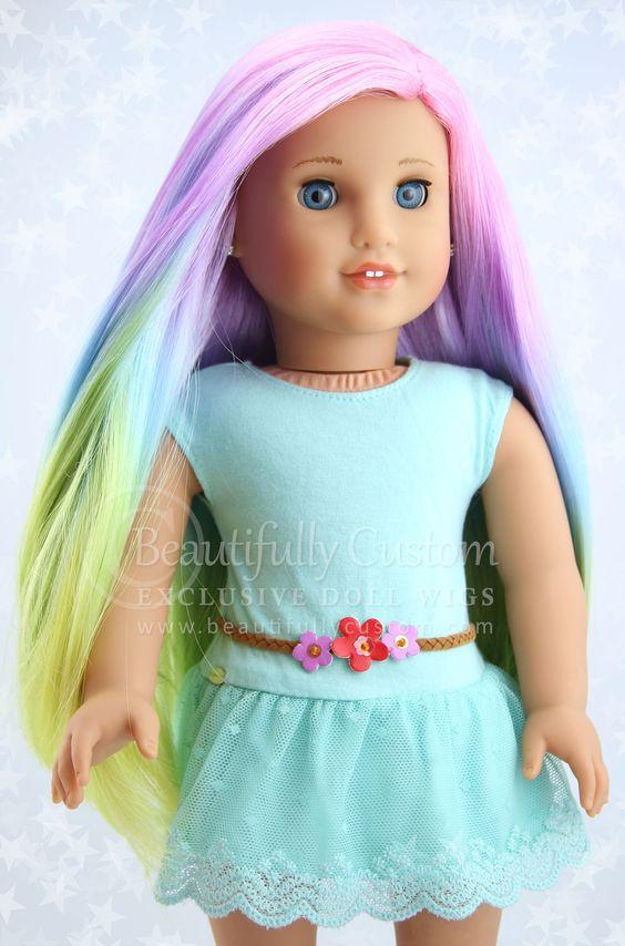 Pretty Pastel Elegance Doll Wig For American Girl Dolls Beautifully