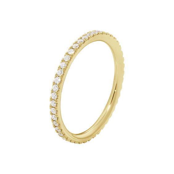 AURORA ring - 18 kt. yellow gold with brilliant cut diamonds