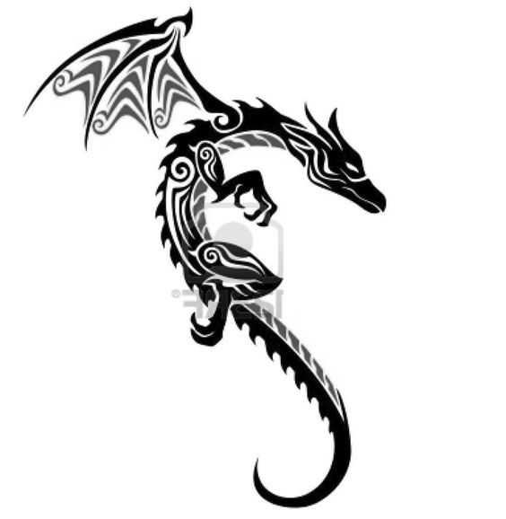 Tribal Dragon Tattoo.First Tattoo?This Dragon Represents My Taiwanese Culture And It'll Always Remind Me Where I Came From.Thinking About Putting This On My Left Back Shoulder Blade.Near My Heart And My Ring Finger. (Design #2)