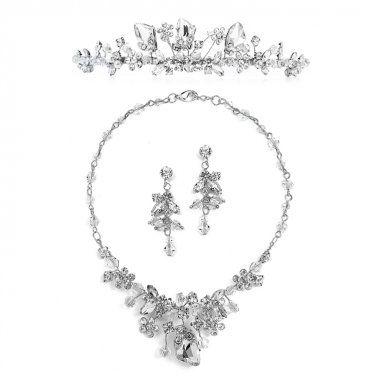 Handmade Tiara, Necklace & Earrings Set thejewelhouse.moonfruit.com