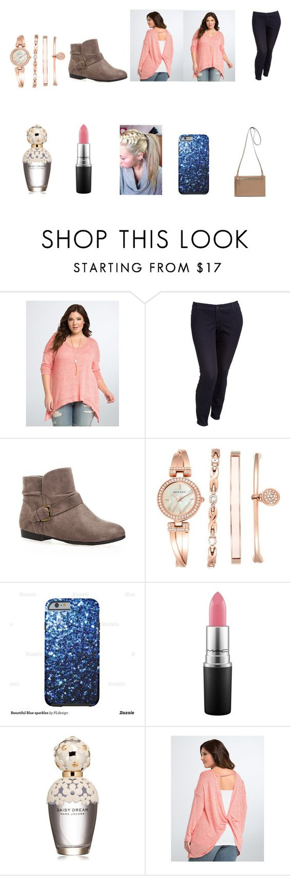 """Untitled #265"" by bleachbrains on Polyvore featuring Torrid, Old Navy, Avenue, Anne Klein, MAC Cosmetics and Marc Jacobs"