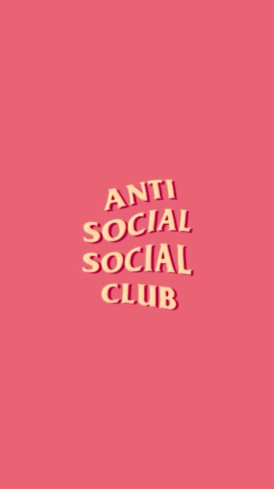 Anti Social Social Club Anti Social Aesthetic Pastel Wallpaper Aesthetic Wallpapers