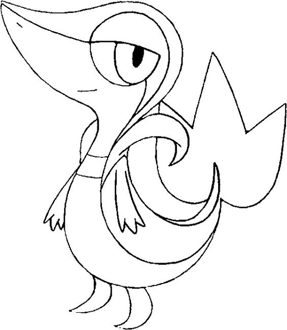 pokemon snivy coloring pages - photo#7