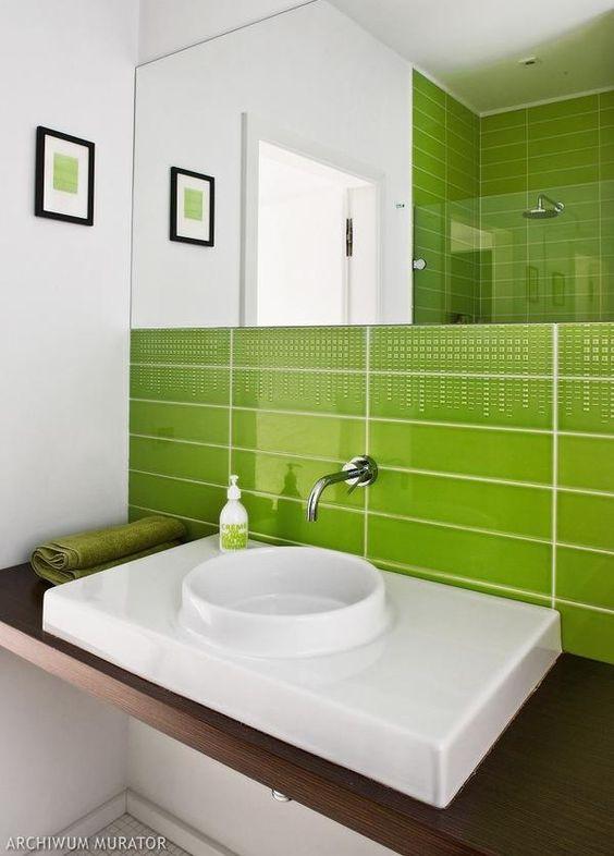 Green bathroom   Bathrooms   Pinterest   Badezimmer, Grün und ...