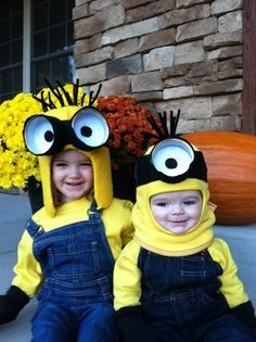 Minion costumes from Despicable Me...OMG Patrick and Maddie would look so stinkin cute!