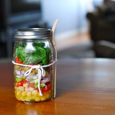 Chickpea Salad. In a jar. BRILLIANT