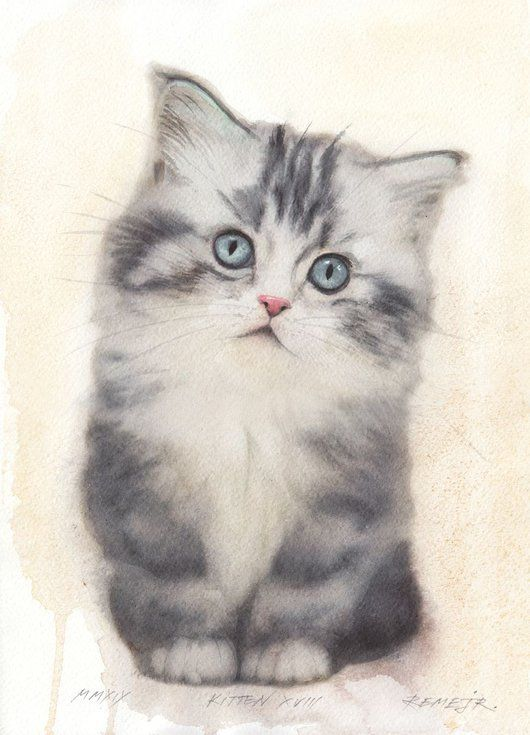 Kitten Xviii In 2020 Dog Art Lovers Art Bird Artwork