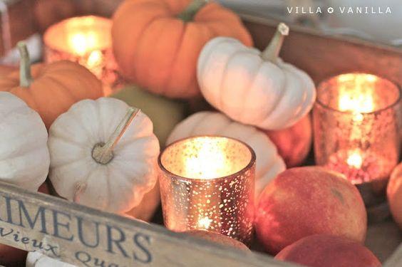 Villa ✪ Vanilla: Der Herbst im Haus...I like the mercury glass candle holders