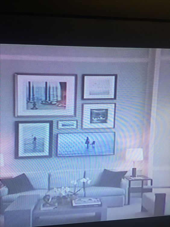 Bad image but the bottom right is a tv. False wall needed to conceal wires.