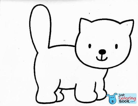 Coloring Pages Cartoon Cat Coloring Pages For Kids Page Dog And
