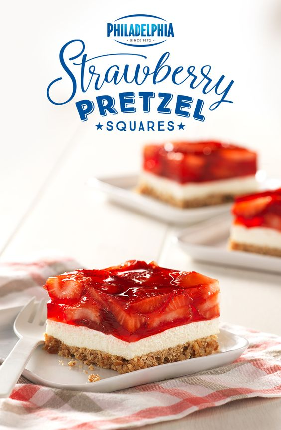 This 4th of July, try these Strawberry Pretzel Squares ...