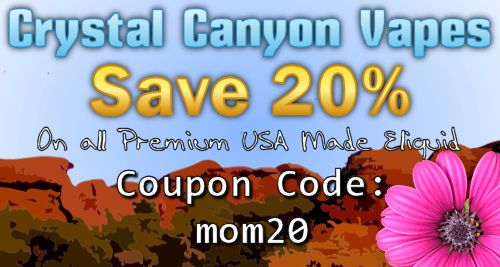 Save 20% of all #eliquid thru Mothers Day using coupon code: mom20  ccvapes.com