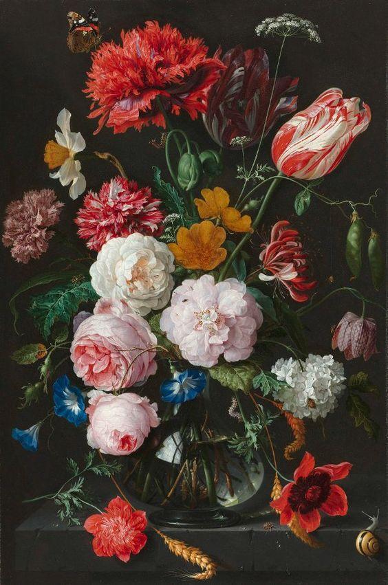 Jan Davidsz. Heem  Still-life with Flowers  1650 - 1683    Oil on copper, 54.5 x 36.5 cm.    Rijksmuseum, Amsterdam