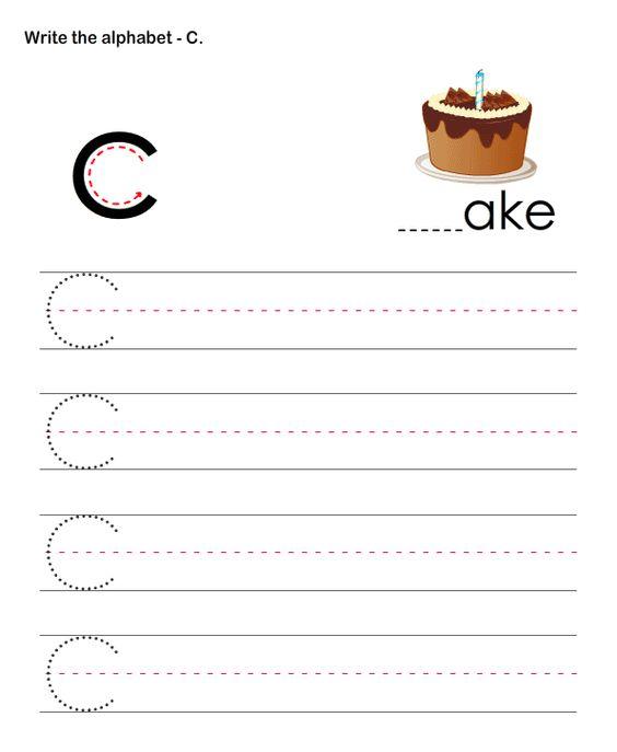 Number Names Worksheets worksheets for letter c : Alphabet, Preschool worksheets and Letter c worksheets on Pinterest