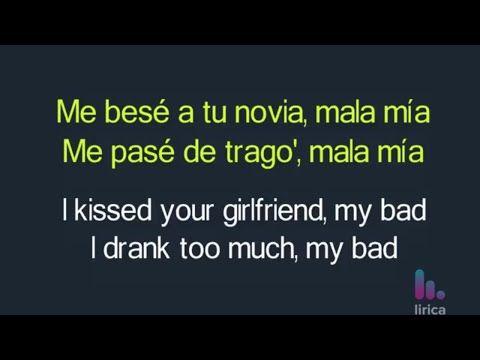 Maluma Mala Mia Lyrics English Spanish English Translation