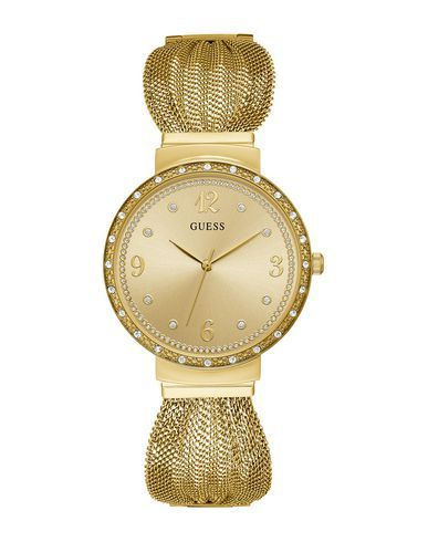 Guess Wrist Watch In Gold Modesens Mesh Bracelet Bracelet Watch Mesh Strap Watch