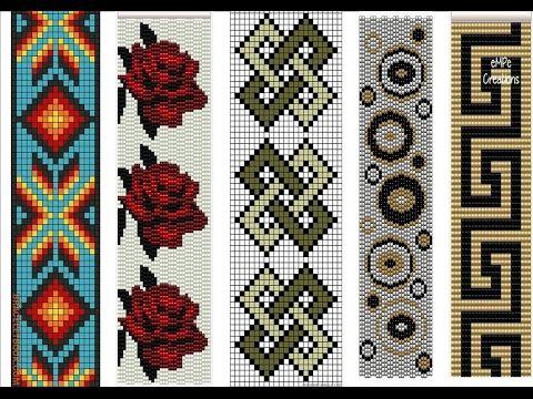 تشكيلة من باترونات مرمة الجوهر من مريمة Youtube Bijoux Perles Broderie Perles De Rocaille