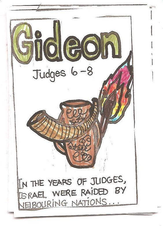 Gideon & Samson ~ One-Page Bible Minibooks   Practical Pages