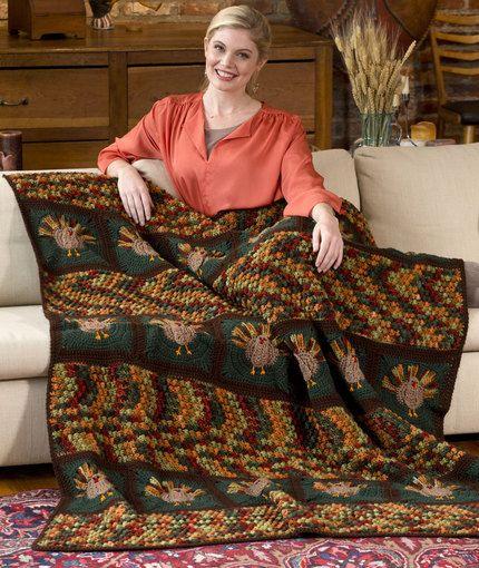Crochet Thanksgiving Inspired Afghans